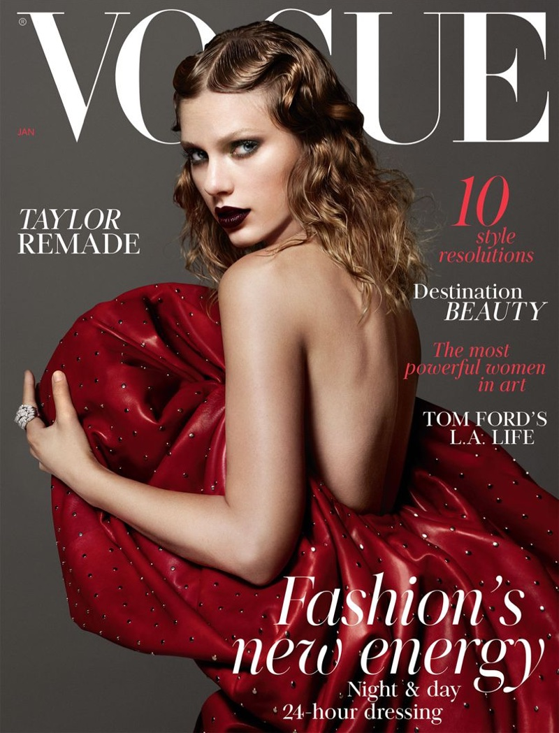 Taylor Swift on Vogue UK January 2018 Cover