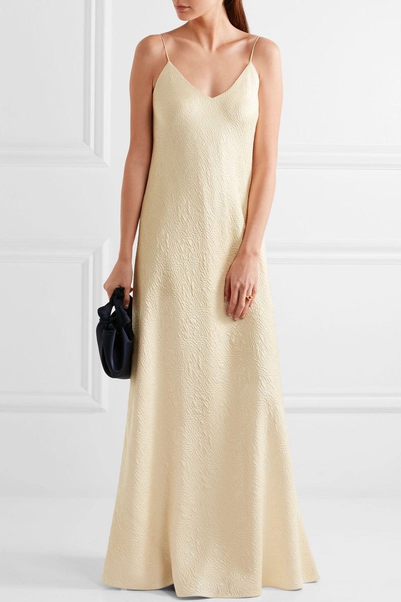 The Row Vera Silk-Cloqué Gown $1,830 (previously $3,050)