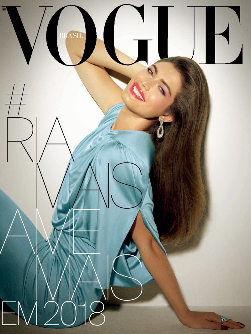 Valentina Sampaio Models Super Glam Styles in Vogue Brazil