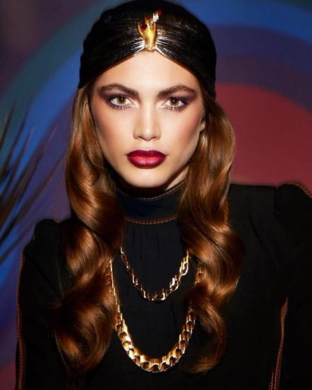 Valentina Sampaio Gets Decadent in Marc Jacobs Beauty's Holiday Looks