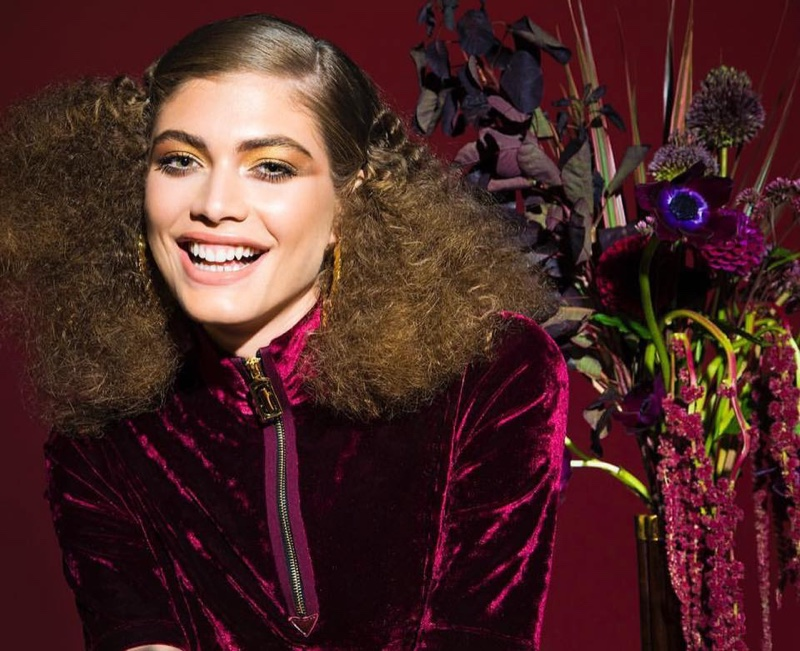 Flashing a smile, Valentina Sampaio poses for Marc Jacobs Beauty