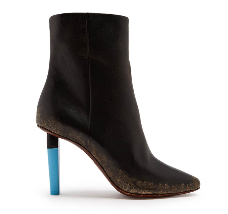 Vetements Highlighter-Heel Leather Ankle Boots $995 (previously $1,421)