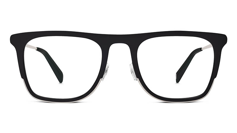 Warby Parker Archer Glasses in Jet Black Matte $145