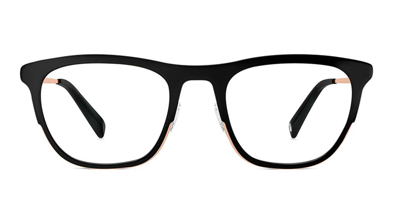 Warby Parker Cassady Glasses in Jet Black $145