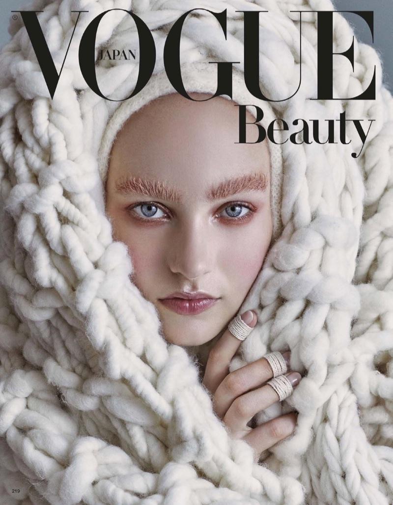 Maartje Verhoef is an Ice Queen in Winter Makeup Looks for Vogue Japan