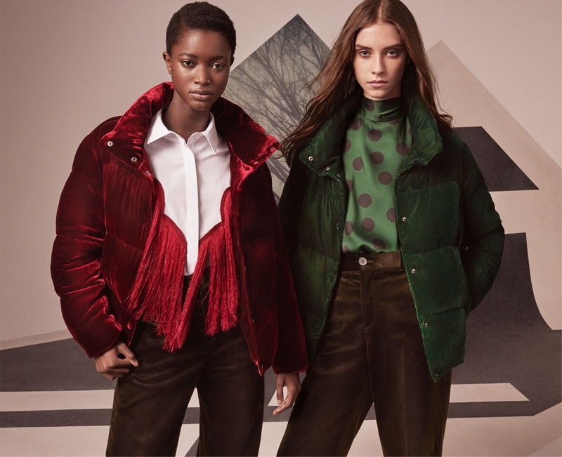 Sophie Martynova and Oumie Jammeh wear Zara's puffer jackets