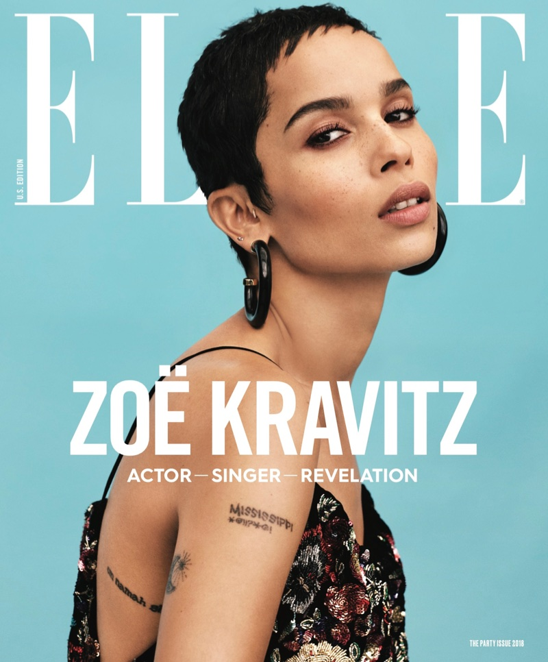 Zoe Kravitz on ELLE Magazine January 2018 Cover
