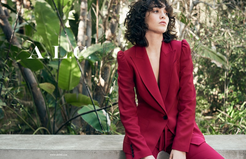 Steffy Algerich suits up in red for A.L.C.'s spring-summer 2018 campaign