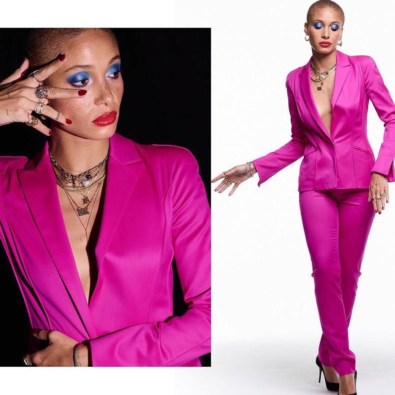 Model Adwoa Aboah suits up in Revlon campaign