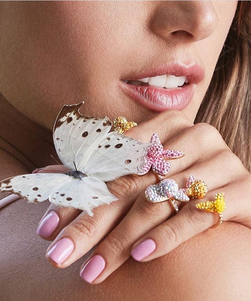 Alessandra Ambrosio poses for Swarovski 'Rainbow Paradise' jewelry campaign