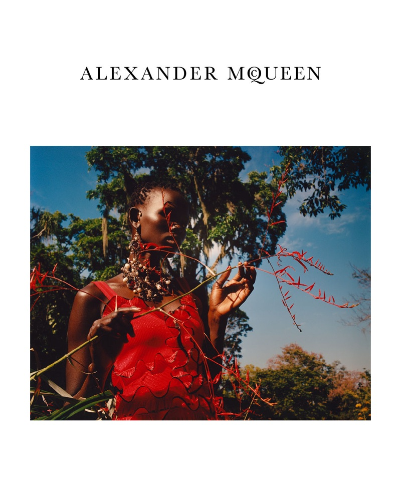 Shanelle Nyasiase stars in Alexander McQueen's spring-summer 2018 campaign