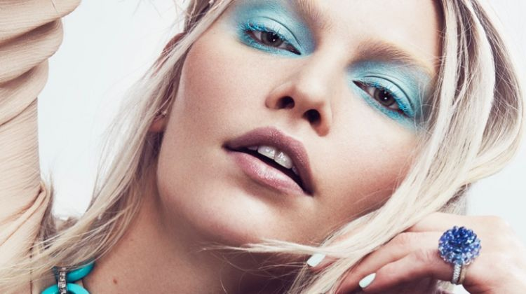 Aline Weber Wows in Pastel Makeup Looks for Vogue Mexico
