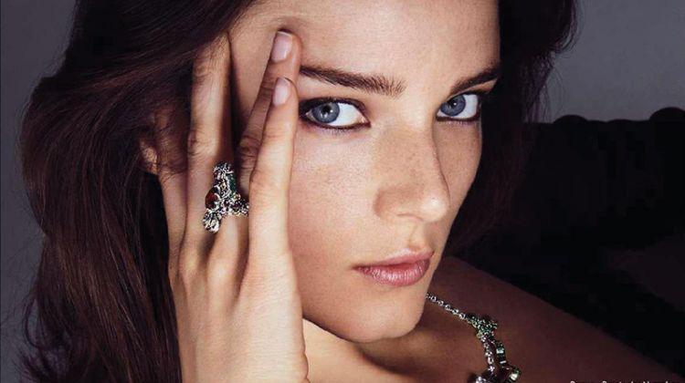 Anna de Rijk Shines in Sparkling Gems for ELLE France