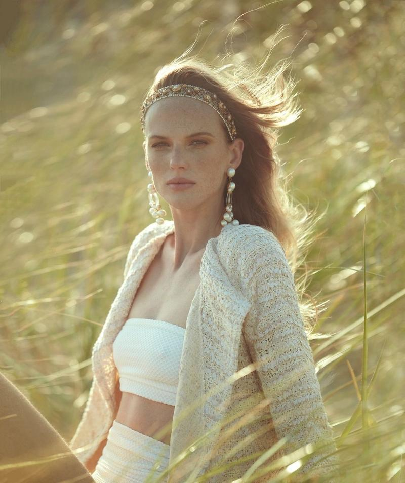 Anne Vyalitsyna Models Chanel's Resort Looks for Harper's Bazaar Chile