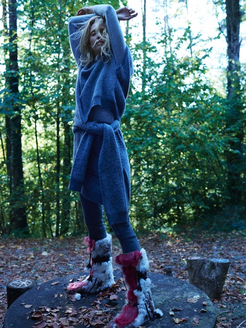 Annely Bouma Layers Up in Winter Styles for TELVA