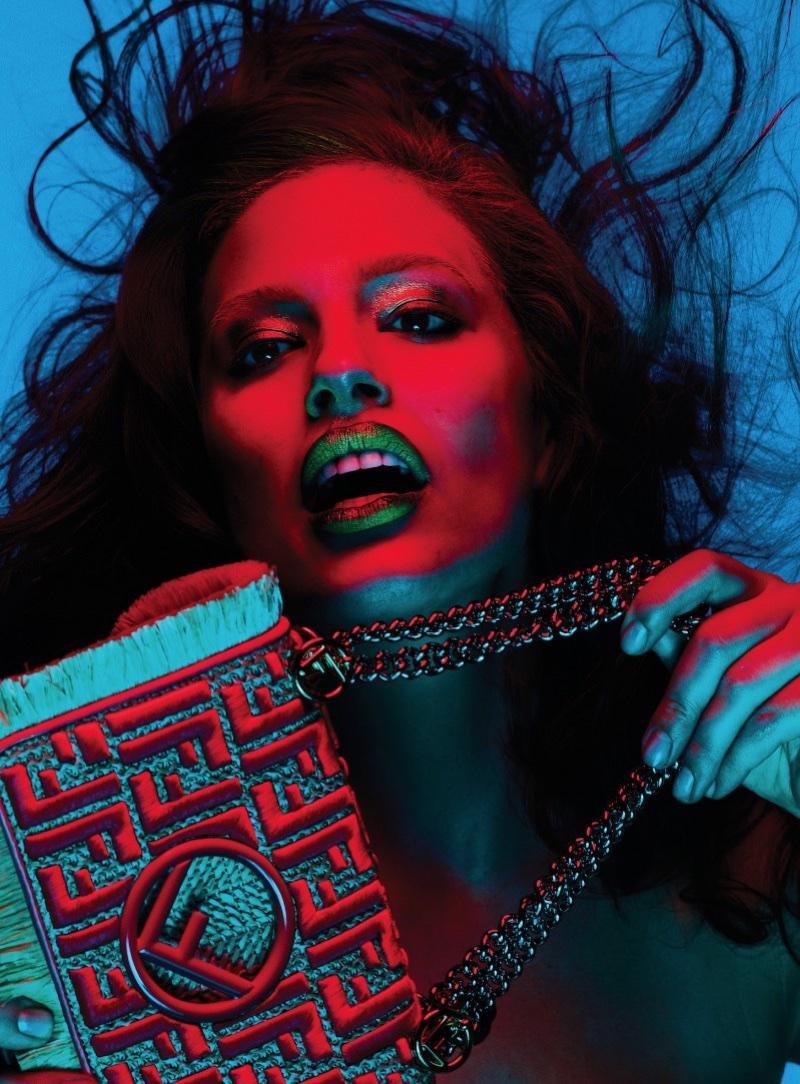 Ashley Graham Models Bold Beauty Looks for V Magazine