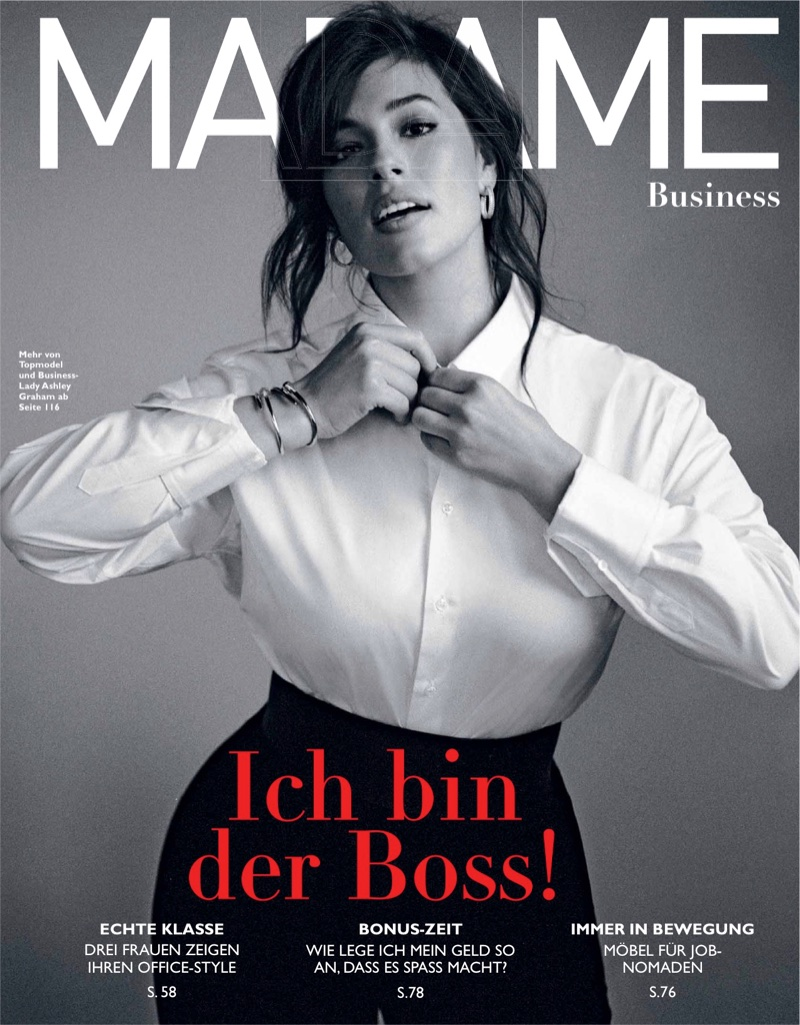 Ashley Graham Models Elegant Looks for Madame Germany