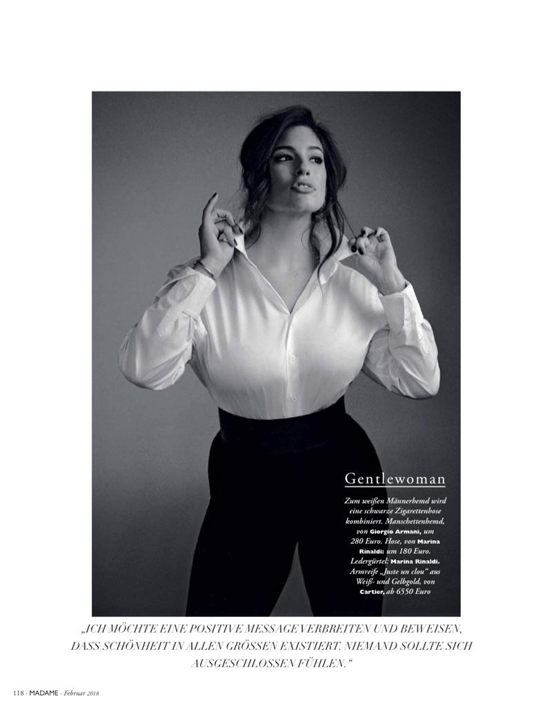 Ashley Graham Models Elegant Looks for Madame Germany