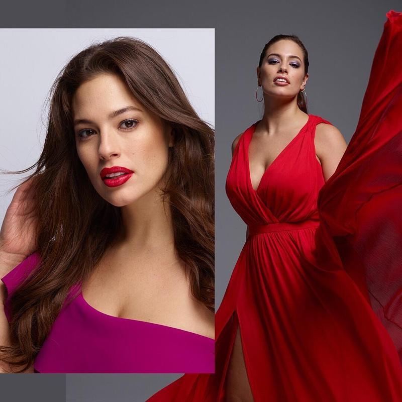 Model Ashley Graham appears in Revlon campaign