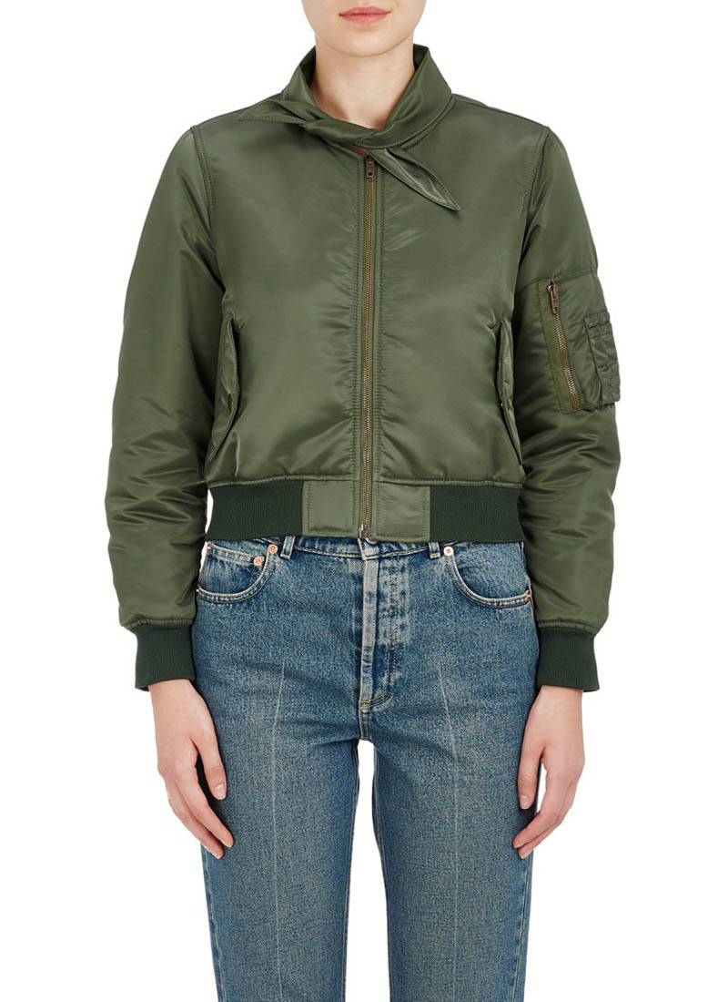 Balenciaga Scarf Neck Satin Bomber Jacket $569 (previously $1,895)