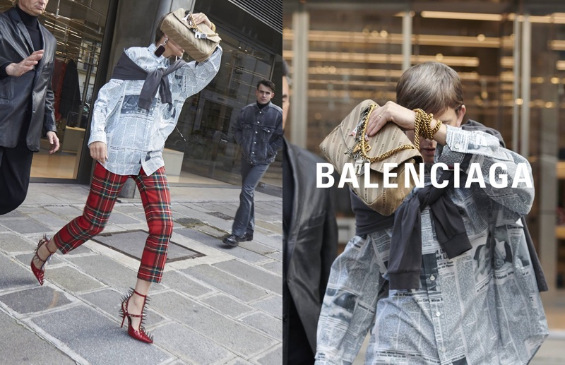Stella Tennant stars in Balenciaga's spring-summer 2018 campaign