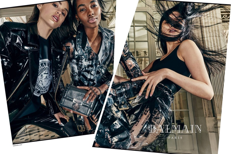 Aleyna FitzGerald,Tami Williams and Kiko Arai front Balmain's spring-summer 2018 campaign