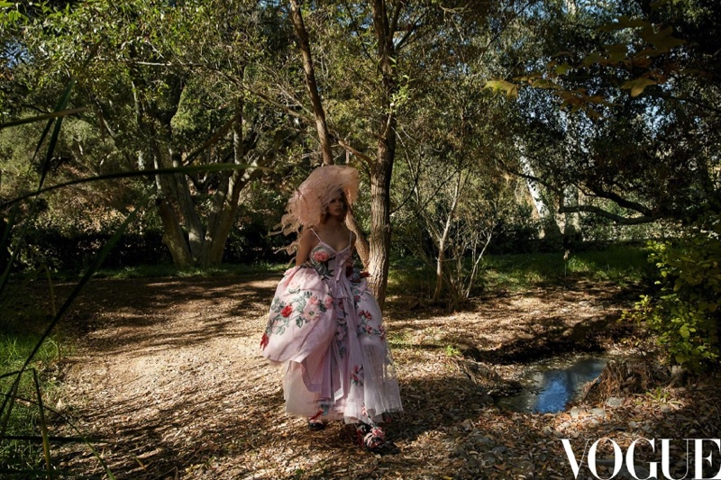 Birgit Kos Poses in Dreamy Fashions for Vogue China