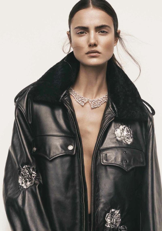 Blanca Padilla Models Calvin Klein Style in Harper's Bazaar Turkey