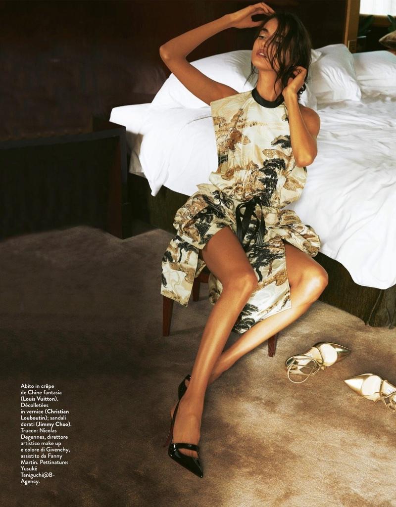 Blanca Padilla Models Simply Chic Looks for Grazia Italy