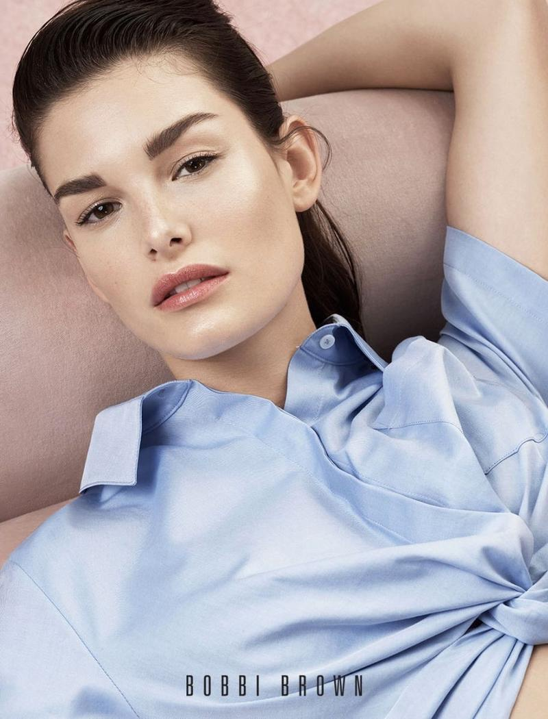 Ophelie Guillermand stars in Bobbi Brown Cosmetics' spring-summer 2018 campaign