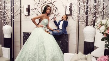 Brandon Maxwell taps model Jourdan Dunn and her son Riley Dunn for spring-summer 2018 campaign