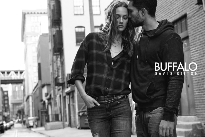 Karmen Pedaru and Tobias Sorensen front Buffalo Jeans campaign