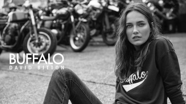 Karmen Pedaru Keeps It Casual in Buffalo Jeans Campaign