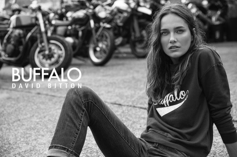 Karmen Pedaru stars in Buffalo Jeans campaign