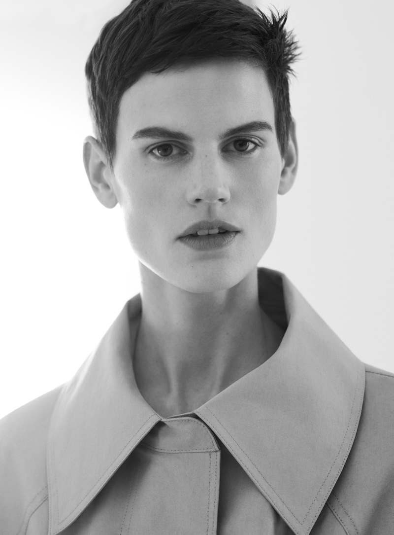 Model Saskia de Brauw fronts COS' spring-summer 2018 campaign