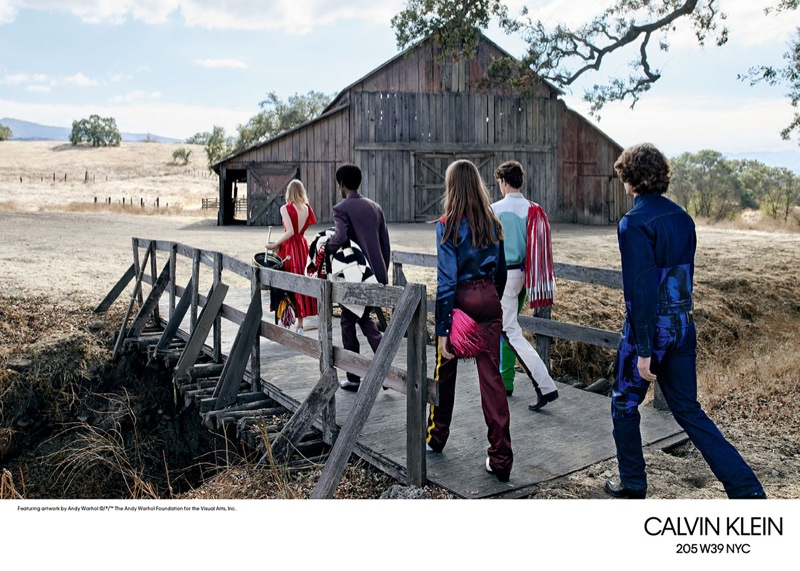 An image from Calvin Klein's spring 2018 advertising campaign