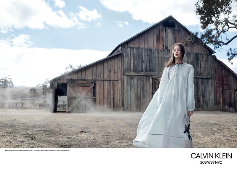 Sara Grace Wallerstedt stars in Calvin Klein's spring-summer 2018 campaign