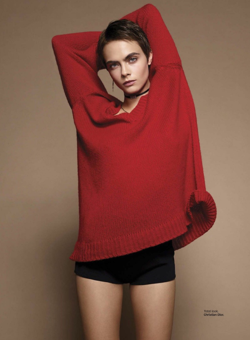 Cara Delevingne Models Dior Fashions in Glamour Mexico
