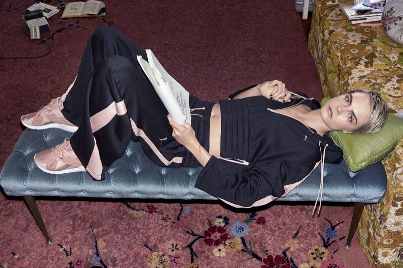 Cara Delevingne stars in PUMA's Muse En Pointe sneaker campaign