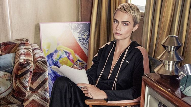 Cara Delevingne Lounges in Style for Latest PUMA Ads