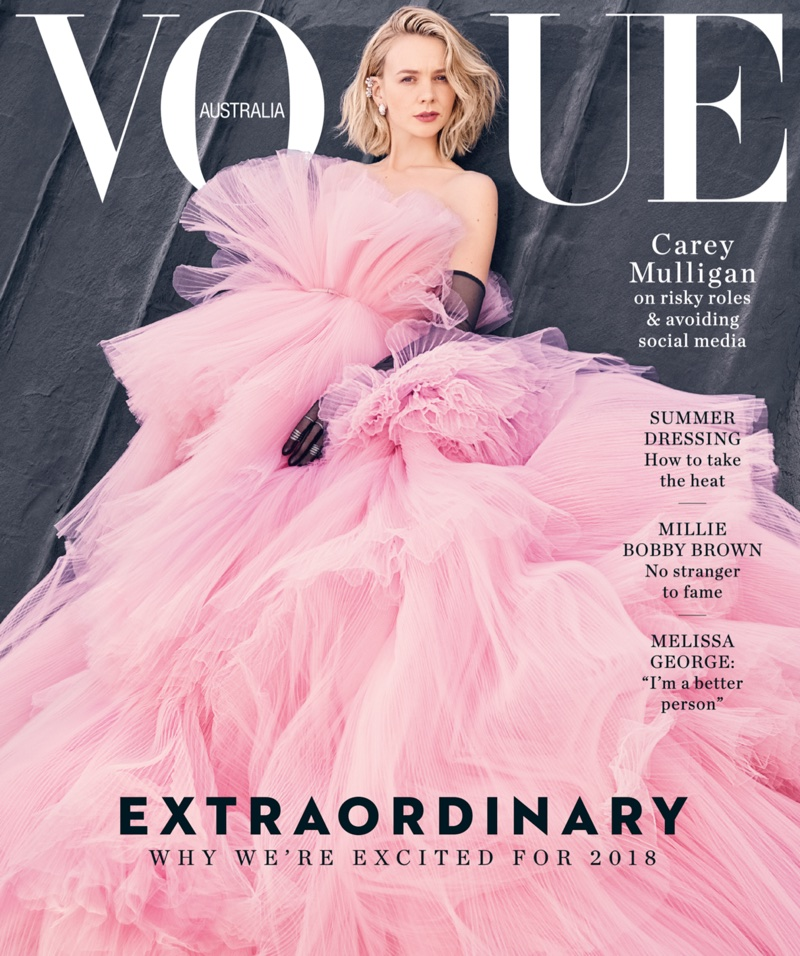Carey Mulligan on Vogue Australia January 2018 Cover