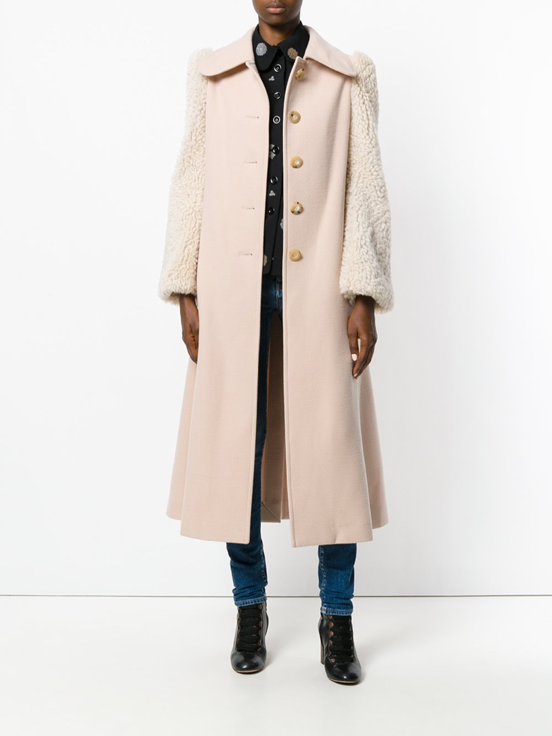 Chloé Shearling Sleeved Coat $2,098 (previously $4,195)