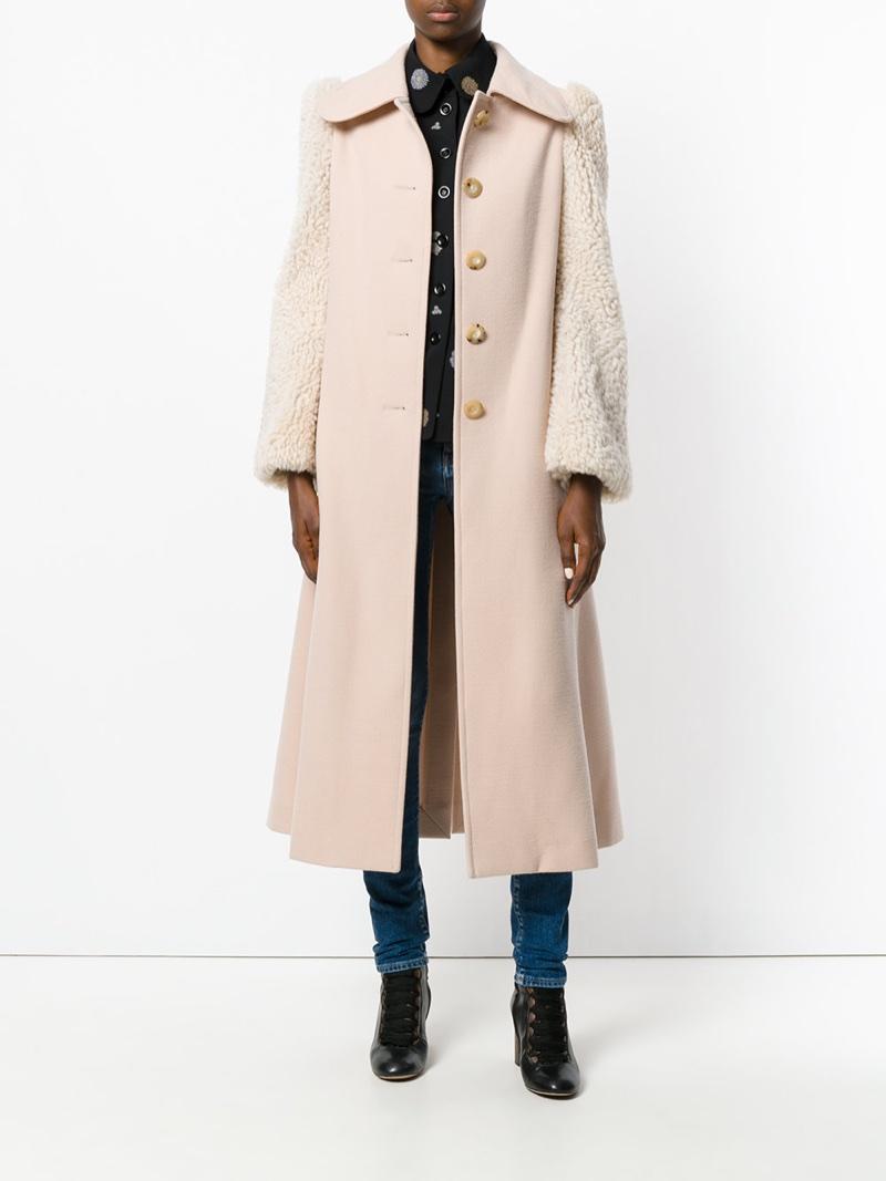Chloé Shearling Sleeved Coat $2,098 (previously $4,195)