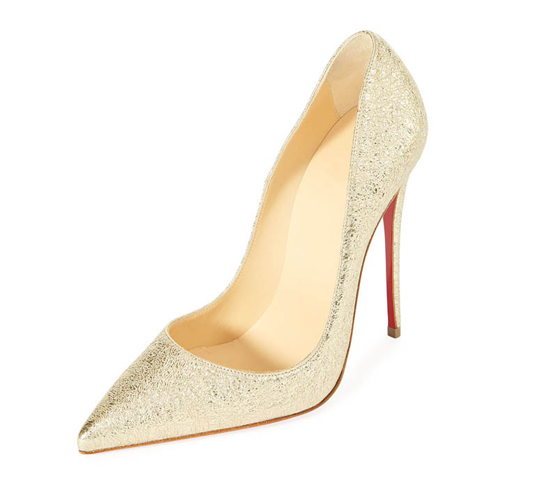 Christian Louboutin So Kate 120mm Metallic Pump $695