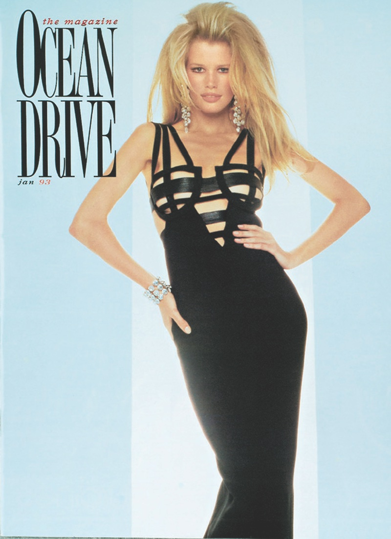 Claudia Schiffer on Ocean Drive January 1993 Cover