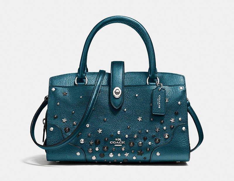 Coach Mercer Satchel 24 with Star Rivets $197.50 (previously $395)