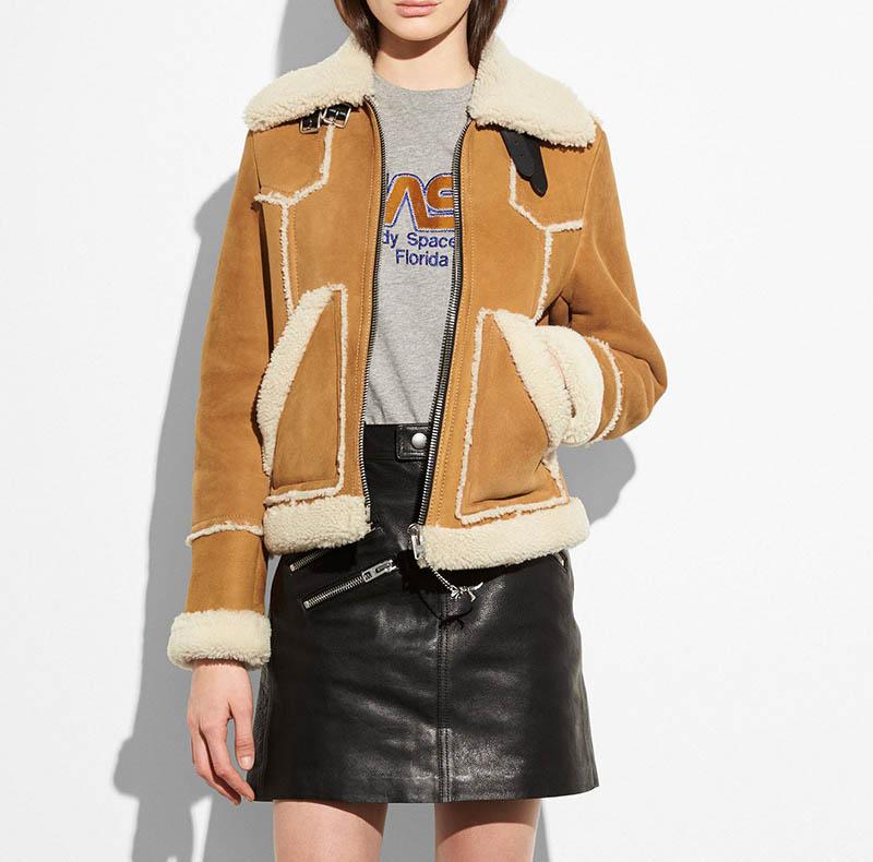 Coach Shearling Lumber Jacket $950 (previously $1900)