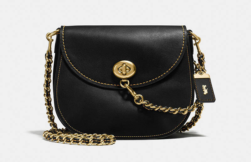 Coach Turnlock Saddle in Glovetanned Leather $247.50 (previously $495)