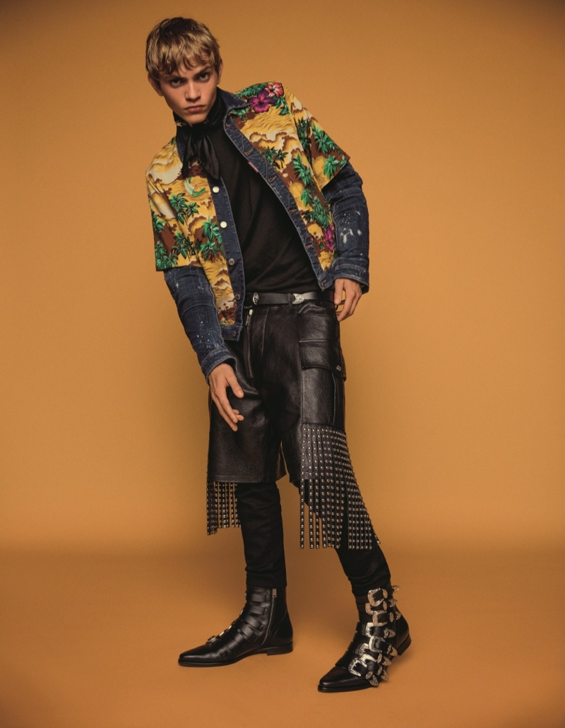 An image from DSquared2's spring 2018 advertising campaign with Jose Lucero