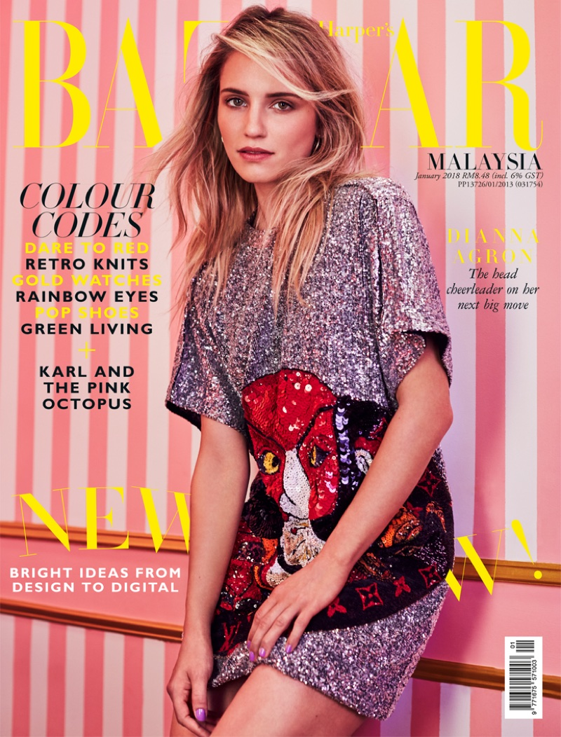 Dianna Agron on Harper's Bazaar Malaysia January 2018 Cover